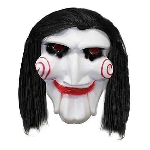 Unisex: Halloween Jigsaw Maske mit Haare