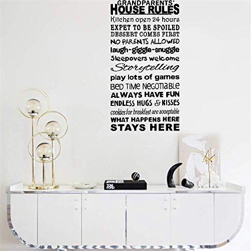 wandaufkleber blumen fer Wall Sticker Decals Grandparents' House Rules Kitchen Open 24 Hours What Happens Here Stays Here For Living Room Bedroom home decor -