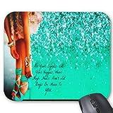 Gaming Mouse Pad gorgerous niedlicher Glitzer Design f�r Desktop und Laptop 1 Packung 22x18cm / 8.66x7in Bild