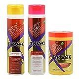 Embelleze Novex Brazilian Keratin Shampoo & Conditioner 10.14oz & Deep Hair Cream Treatment 14.1oz Set by Novex
