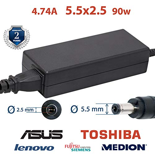 Cable cargador Asus Toshiba portátil 4.74a 5.5x2.5