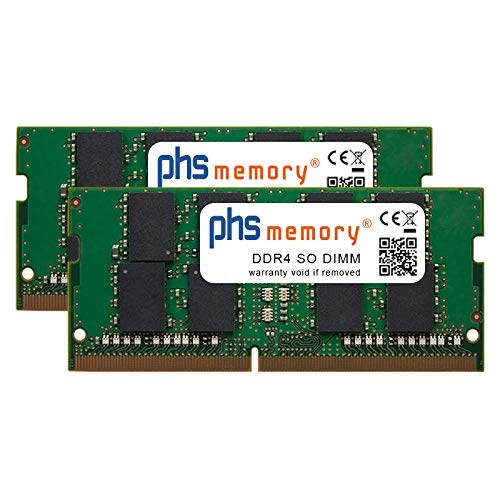 PHS-memory 64GB (2x32GB) Kit RAM Speicher für Apple iMac Core i9 3.6GHz 27-Zoll (5K, Early 2019) DDR4 SO DIMM 2666MHz PC4-2666V-S -