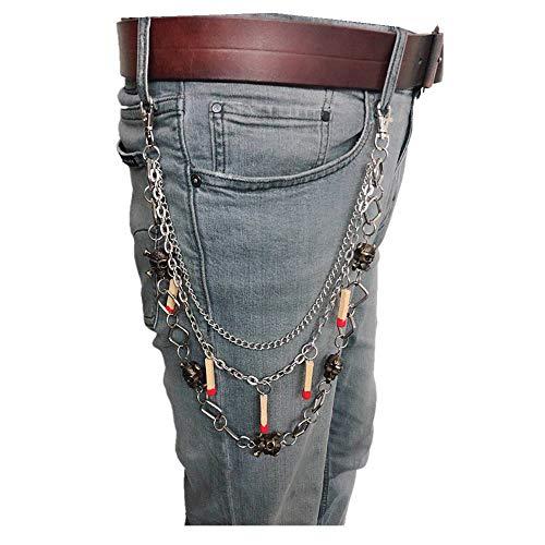 ose, Spinne, Geldbörse, Biker, Doppelkette, Pirat, Jeans, Punk, Motorcyle Rock ()