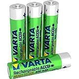 Varta 56783101404 Rechargeable Akku Ready 2 Use vorgeladener AAA Micro Ni-Mh (4-er Pack, 800 mAh) chrom/grün