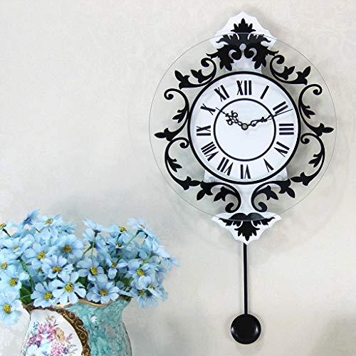 Lbfkj orologio da parete soggiorno muto creativo hanging campana camera di personalità clock -