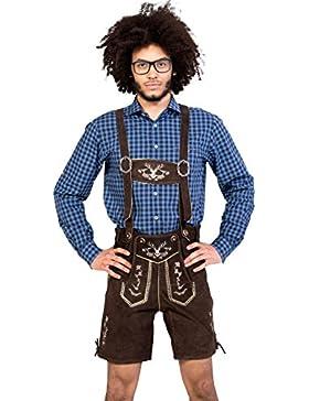 Almwerk Herren Trachten Lederhose kurz Modell Hipster in schwarz, braun und hellbraun