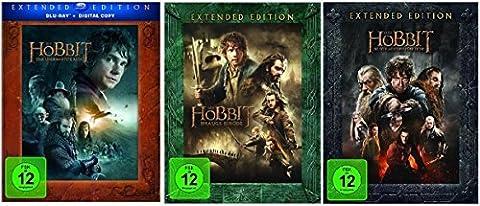 Blu-ray Set * Der Hobbit Trilogie Teil 1+2+3 je Extended Edition * (Eine unerwartete Reise+Smaugs Einöde+Die Schlacht der fünf