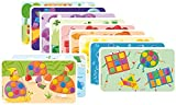 PlayMais 160086 - Card Set Fun To Learn Colors und Forms, Bastelset