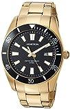 Armitron Men's Quartz Stainless Steel Dress Watch, Color:Gold-Toned (Model: 20/5276BKGP)