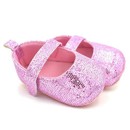 nascidos Suave Recém Rosa Crianças Sapatos De 1 Par derrapantes Igemy Lantejoulas Anti Bebé Bonito qSgxZRnWwp