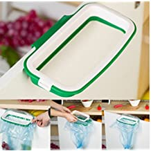 Styleys Green Polypropylene Plastic Garbage Bag Holder/Dustbin (with Side Clips for Better Grip) for Kitchen/Office/Clinics/Schools (1)