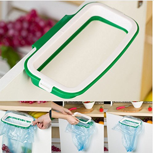 Amigozz Plastic Garbage Bag Holder / Dustbin (Green)( With Side Clips For Better Grip) For Kitchen / Office / Clincs / Schools  available at amazon for Rs.210