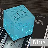 Small Wireless Speakers with Bluetooth Portable Wireless Bluetooth Portable Speaker Small Premium Bluetooth Speaker Wireless Computer Speaker Rich Bass Speakers Rubik'S Cube Bluetooth Speaker Blue