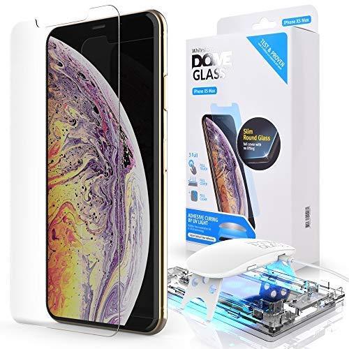 Dome Glass iPhone XS MAX Panzerglas Displayschutzfolie für AppleiPhone XS MAX, Gewölbtes Glas Schutzfolie: 9H Härte, Anti-Kratzen, Anti-Öl, Anti-Bläschen, Einfaches Installationskit Max-dome
