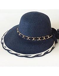 QZ HOME Sombreros Verano Sombrero De Paja Gorro De Playa Aire Libre Casual  Visor Plegable Protección ff56611c0dc