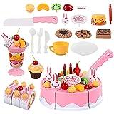 jianghang DEE Fine Finge ser Fruta Cortar Pastel de cumpleaños Cocina Juguete Divertido Moda diseño(None 75 Sets)