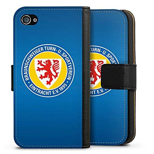 Apple iPhone 6s Hülle Case Handyhülle Eintracht Braunschweig Fanartikel Bundesliga Sideflip Tasche schwarz