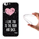 ZTE Blade S6 Hülle, WoowCase Handyhülle Silikon für [ ZTE Blade S6 ] Herz Liebe Satz - I Love You To The Moon And Back Handytasche Handy Cover Case Schutzhülle Flexible TPU - Transparent