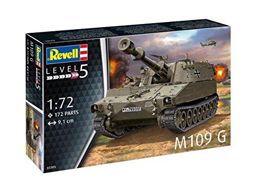 Revell 03305 - Modellbausatz Panzer 1:72 - M109 G im Maßstab 1:72, Level 4, Orginalgetreue Nachbildung mit vielen Details -