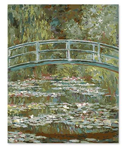 Superlucky Digitales Ölgemälde Monet japanische Brücke EIN berühmtes Gemälde Seiner eigenen Farbe DIY Handarbeit 40x50cm ohne Rahmen -
