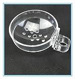 INCHANT Transparent Porte-Savon de Salle de Bain pour Barre de Douche - Accessoires de Salle de Bains en ABS Boîte à savon à clipser Convient au rail de montage / tube de Diamètre 22 mm