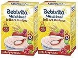 Bebivita Milchbrei Erdbeer-Himbeer, 600g, 2er Pack (2 x 600g)