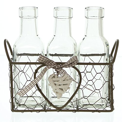 FRANK FLECHTWAREN Vasenkörbchen Romance (4-teilig)