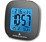 Precision Radio Controlled LCD Backlit Alarm Date Temperature Clock. by Precision