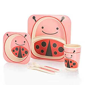 All Kids United Children S Crockery Set Bamboo Tableware For Kids
