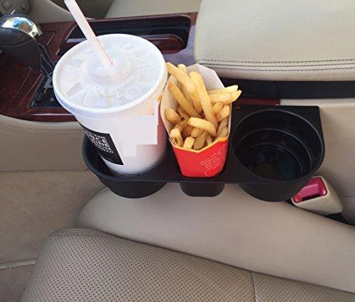 Preisvergleich Produktbild INION® Pommes&Burger&Cola Halter PRAKTISCHES KFZ Getränkehalter - Becherhalter - Ablagefach - Stauraum - Cup Holder - Aufbewahrungsbox - Ablagefach Stauraum - Dosenhalter - Becherhalter - Kaffeehalter - Flaschenhalter - - Drink Holder - Organizer - Für alle Auto PKW LKW Ideal für Mittelkonsole Fahrersitz&Beifahrersitz und Rücksitz, Rückbank zwischen den Sitzen