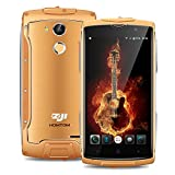 Rugged 4G SIM-Free Smartphone HOMTOM ZOJI Z7 IP68 Waterproof Metallic Unlocked Android 6.0 Mobile Phone Ultra thin 5.0 inch Corning Gorilla Glass Screen MTK6737 Quad Core 1.3GHz 2GB RAM+16GB ROM 5MP+13MP GalaxyCore Camera Fingerprint Unlock Dual SIM 3000mAh Large Battery GPS - Gold♥️Christmas Thanksgiving Gift♥️