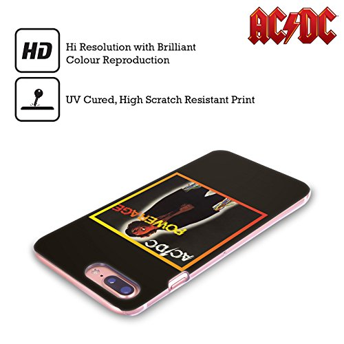 Ufficiale AC/DC ACDC Back In Black Copertina Album Cover Retro Rigida per Apple iPhone X Powerrage