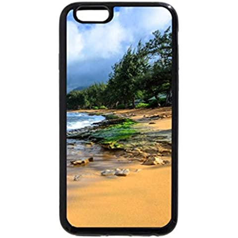 6S iPhone Plus-Custodia per iPhone 6 Plus, motivo Hawaii Kauai Haena mare, isola