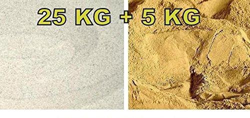 Terrarium Sand hell / Lehm - 25 kg Sand + 5 kg Lehm
