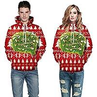 El otoño y el Invierno de los Hombres Amantes de la impresión Digital 3D suéter de Navidad,XXL
