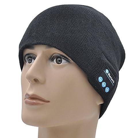 ONX3 Kyocera DuraForce Pro (noir) Un Hiver Taille unisexe Beanie Hat Bluetooth avec haut-parleur stéréo sans fil prise casque