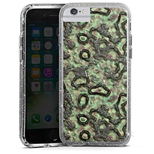 Apple iPhone 6s Bumper Hülle Bumper Case Glitzer Hülle Slime Green Abstrakt Bumper Case Glitzer silber