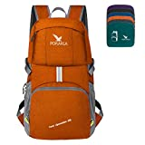 POKARLA 35L Pliable Durable Voyage Sac À Dos Daypack Ultra Léger Packable Transporter sur Le Sac Unisexe Sports de Plein Air Orange
