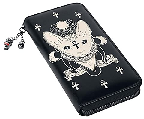 Banned Ankh Cat Portefeuille (Ankh Abbigliamento)