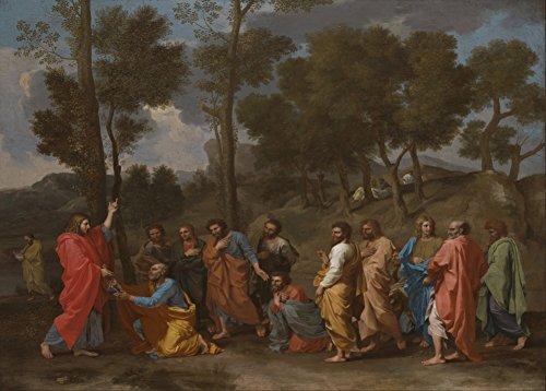 """NICOLAS POUSSIN """"Das Sakrament der Ordination (Christus, der die Schlüssel zum Heiligen Petrus darstellt)"""" circa 1636. 250 g/m², glänzend, Kunstdruck, A3, Reproduktion"""