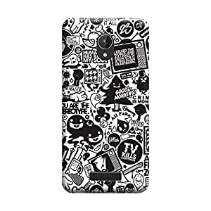 Phone Candy Designer Back Cover with direct 3D sublimation printing for Micromax Canvas Spark