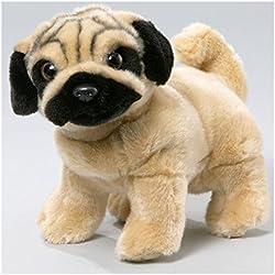 Peluche - Perro Pug, Carlino (felpa, 25cm)