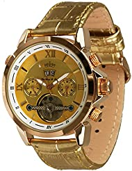 Lindberg & Sons Reloj Automático piraeus Golden Esfera de Color y pulsera de piel
