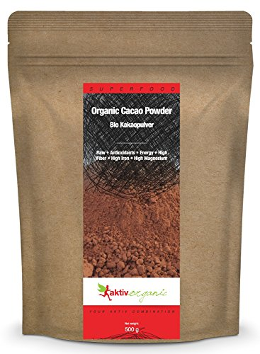 Aktiv Organic Kakaopulver, 500 g, Bio, Rohkost aus Peru