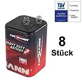 Blockbatterie Trockenbatterie Batterie Typ 4R25 Campingbatterie 6Volt 9Ah Baustellenbatterie für Handlampe Baustellenlampe Campingleuchte Blinkleuchte Warnlampe (8)