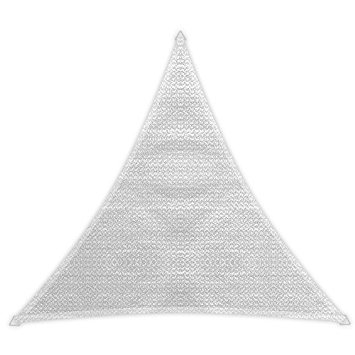 Windhager 10977 - Vela de sombra para patio, triangular 5m, color blanco