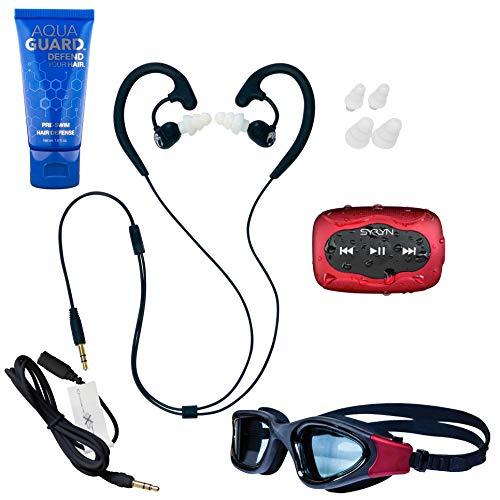 Swimbuds Fit Auriculares Resistentes al Agua y 8GB syryn Impermeable Reproductor de mp3con la función de Shuffle.