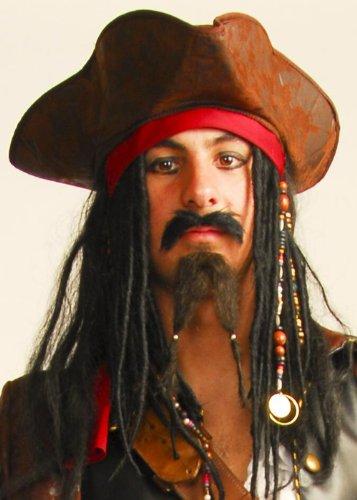 Struts Fancy Dress Jack Sparrow Style Schnurrbart und Bart Set