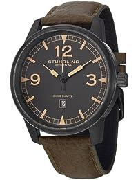 Stührling Original 1129Q.03 - Reloj analógico para hombre, correa de cuero, color verde