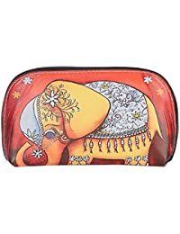 Fiona Trends Women's Multicolor Brown Elephant Design Clutch (109_BROWN ELEPHANT)